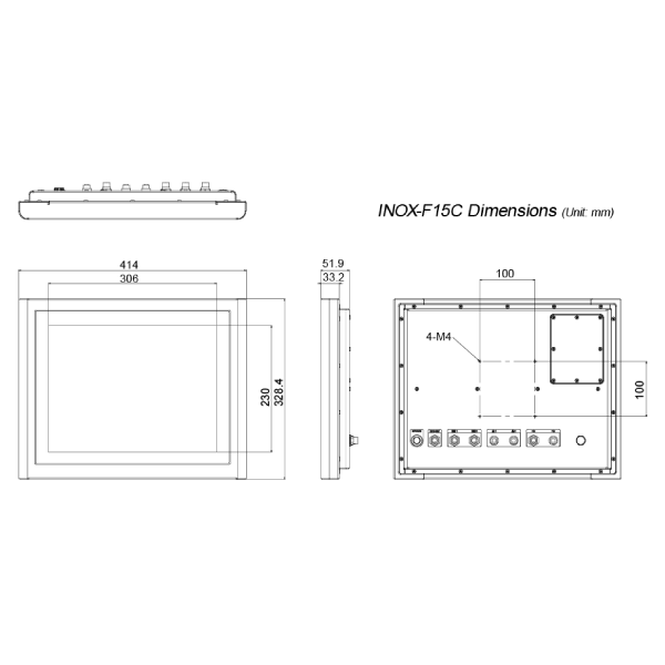 INOX-F15C-ULT3-panel-pc-dimension