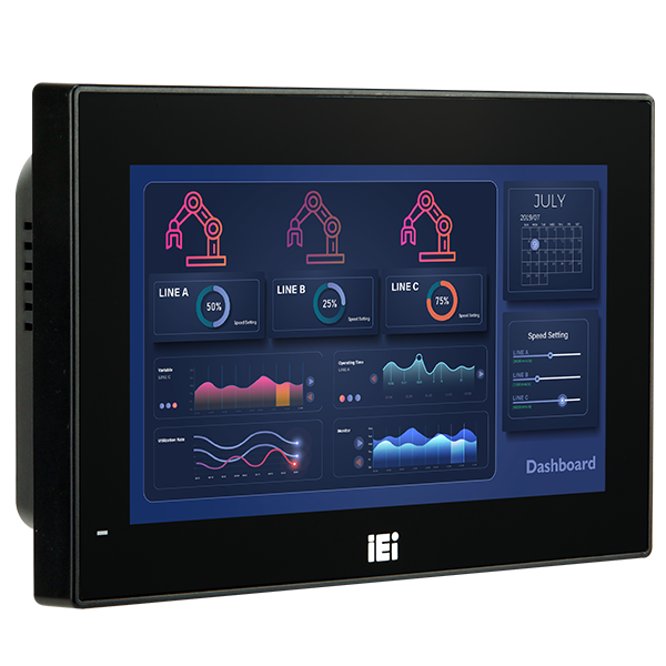 AFL3-W07A-AL2 IP65 Fanless Panel PC IO