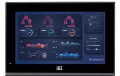 IEI AFL3-W07A-AL Industrial PoE Panel PC