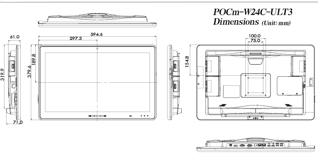 pocm-w24c-medical-panel-pc-dimension