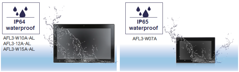 Waterproof Grade IP64 IP65 panel PC